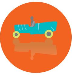 icon toy car vector image