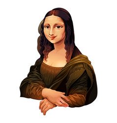 interpretation mona lisa vector image