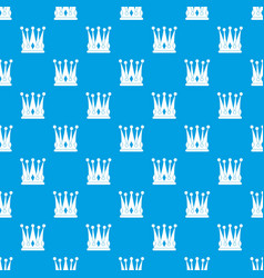 kingly crown pattern seamless blue vector image