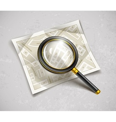 Loupe magnifying glass tool vector