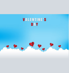 love and valentine dayorigami made flying on the vector image