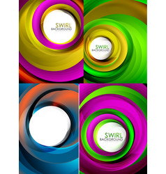 mega collection of swirls and circles geometric vector image