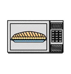 Microwave cake pumpkin for thanksgiving dinner vector