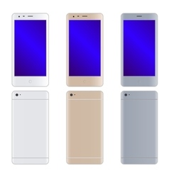 Modern phones set vector image