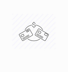 Money transfer icon isolated vector