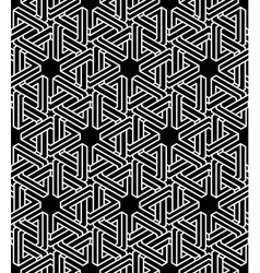 Monochrome abstract interweave geometric seamless vector