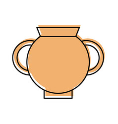 Old museum vase icon vector