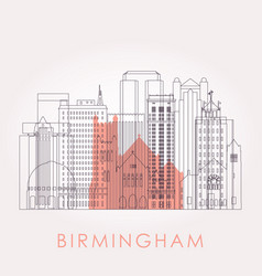 outline birmingham alabama skyline vector image
