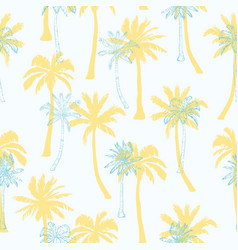 palm tree pattern seamless hand drawn textures on vector image
