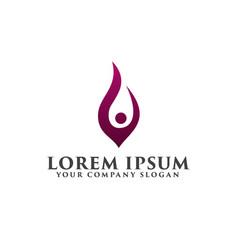 people raise logo design concept template vector image