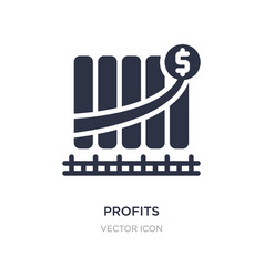 Profits icon on white background simple element vector