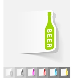 realistic design element bottle of beer vector image