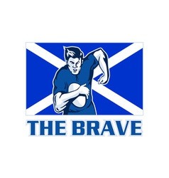 rugby player scotland flag the brave vector image