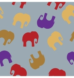 Seamless pattern with colorful elephants for vector image