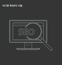 Seo icon line element of seo vector