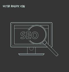 Seo icon line element seo vector