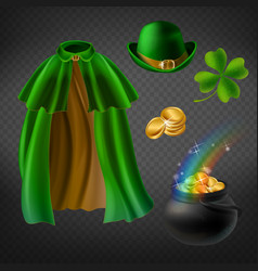 set of saint patricks day elements vector image