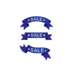 set sale ribbon vector image