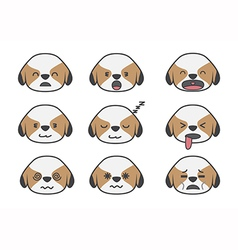 Shih Tzu cartoon emotion vector image