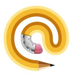 sign symbol pencil icon cartoon style vector image