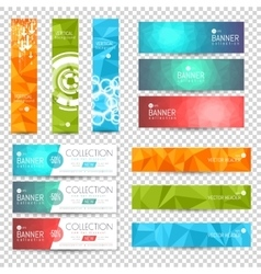 Site Banner Collection Polygon and Blurred vector