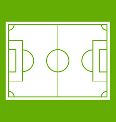 Soccer field icon green vector