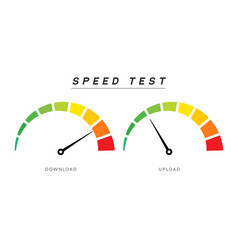 speed test internet measure speedometer icon fast vector image