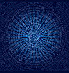 Spirale binary code vector