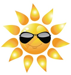 Sun icon with glasses vector