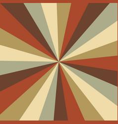 Sunburst background pattern with a vintage vector