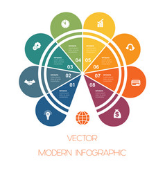 template colorful semicircle for infographics vector image