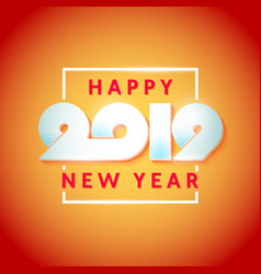 text design happy new year 2019 vector image