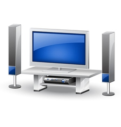 Tv home theatre vector