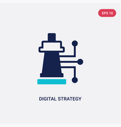 two color digital strategy icon from general-1 vector image