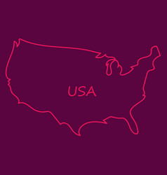 usa map flag vector image