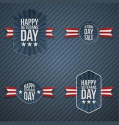 Veterans day patriotic banners vector