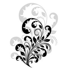 Vintage floral embellishment vector