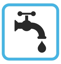 Water Tap Icon In a Frame vector