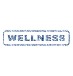 Wellness textile stamp vector