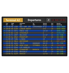 Airport departure board vector image vector image