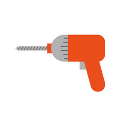 drill construction isolated icon vector image