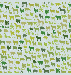 farm animals silhouette seamless pattern zoo vector image vector image