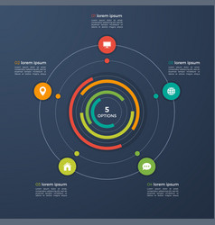 infographic template with integrated vector image