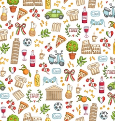 Italian style seamless pattern vector image vector image