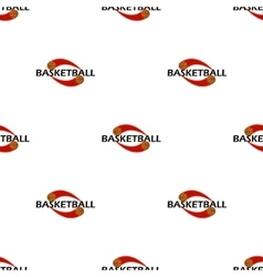 pattern basketball text vector image vector image