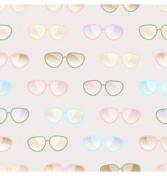 Seamless pastel pattern of sunglasses vector image vector image