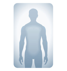 Silhouetted man vector image vector image
