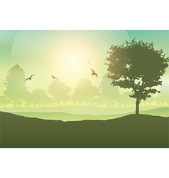 Tree landscape vector image vector image