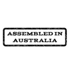 assembled in australia watermark stamp vector image vector image