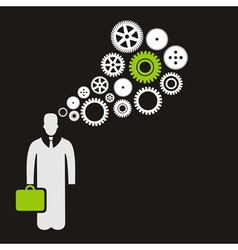 Business the person vector image vector image